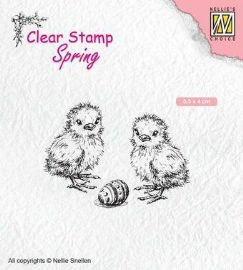 Nellie Snellen - Spring Clear Stamp - Chicken and Easter Egg - SPCS008